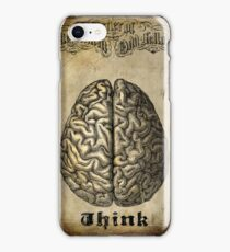 Vintage Brain Etching - THINK iPhone Case/Skin
