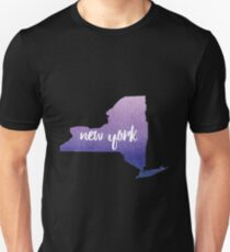 New York– purple Unisex T-Shirt