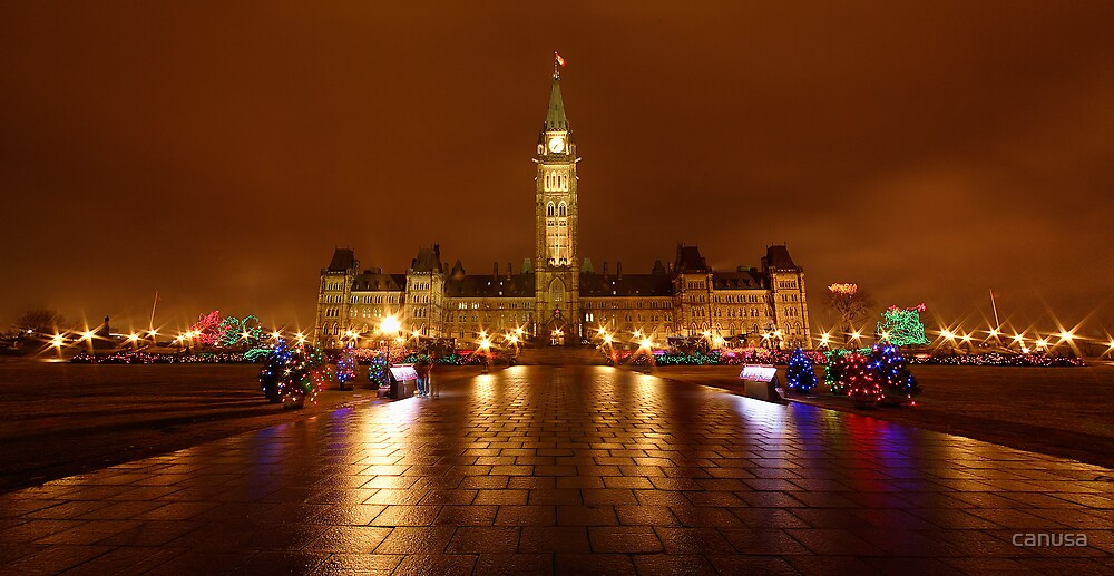 Parliament Hill in Ottawa by canusa