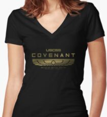 Alien Covenant Gold Women's Fitted V-Neck T-Shirt