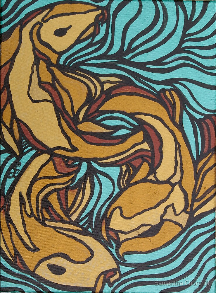 Koi Pond 3 by Samantha Churchill