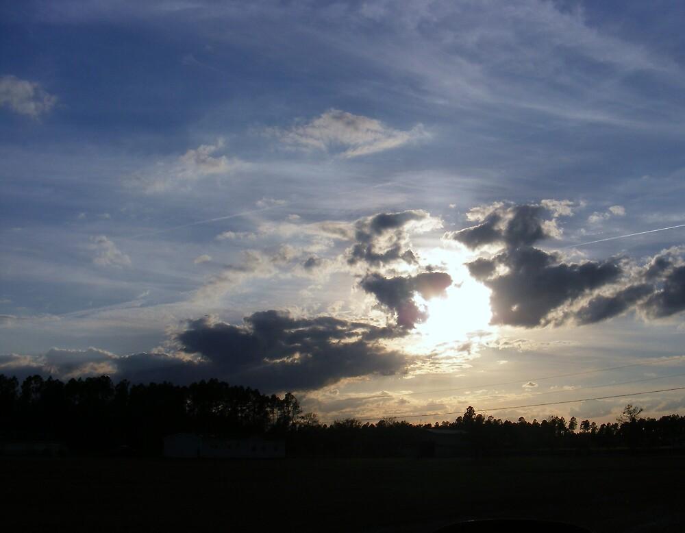 Sun in clouded hands by AlwaysJer