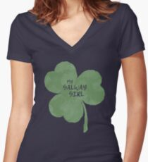 Galway Girl Women's Fitted V-Neck T-Shirt