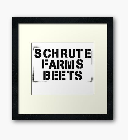 SCHRUTE FARMS BEETS Framed Print