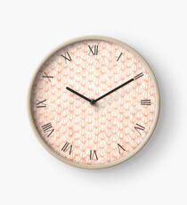Sepia fluffy knitted fabric textured abstract Clock