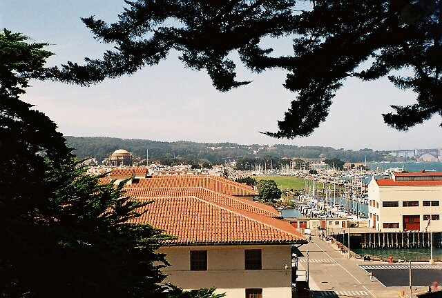 Rooftops of Fort Mason, View of Marina Green, SF, CA by stephen hewitt