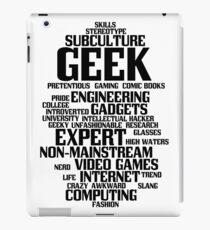 Geek (geeky, nerd) iPad Case/Skin