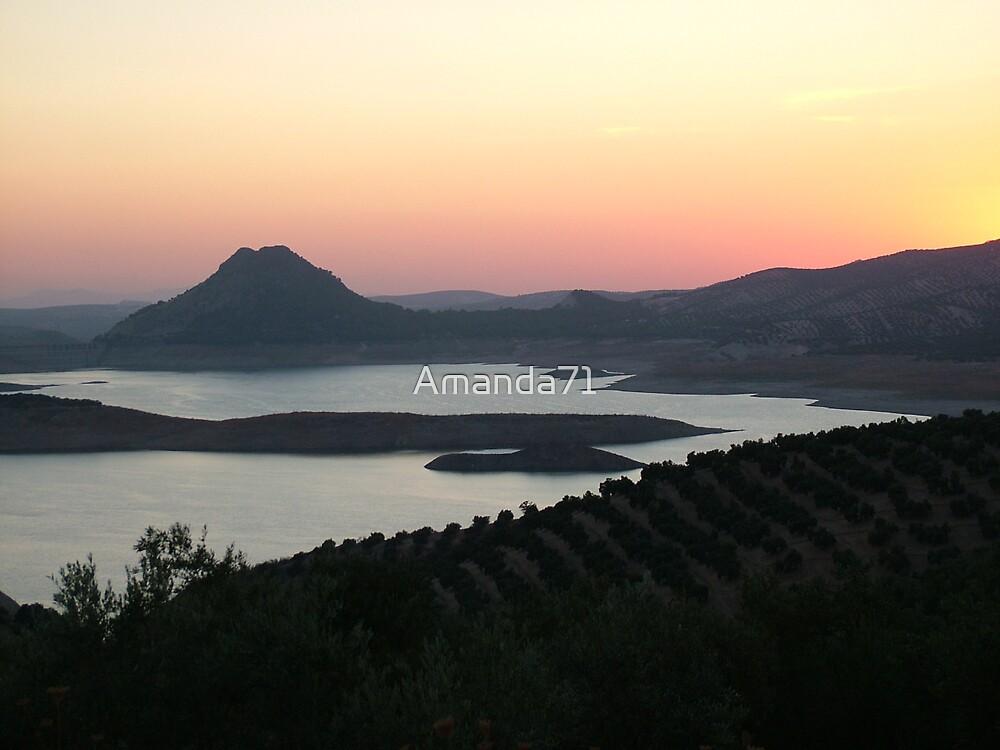 Sun Setting Inland Spain by Amanda71
