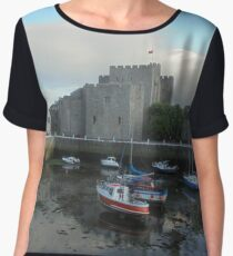 Castletown Harbour 2 Chiffon Top