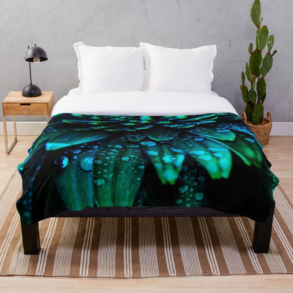 Midnight Blue Throw Blanket