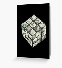 rubix cube dollar Greeting Card