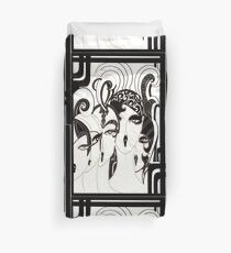 Art deco mod dollies by Jacqueline Mcculloch   House of Harlequin Duvet Cover