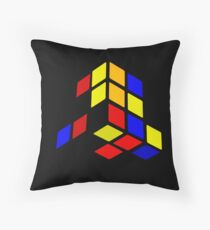 Broken Rubix Cube Throw Pillow