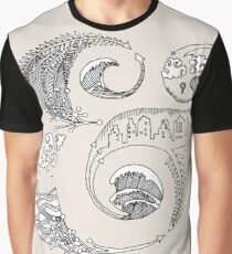 Amperland Typography Illustration Ampersand Art Graphic T-Shirt