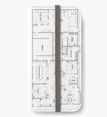 Der Bürogrundriss iPhone Flip-Case/Hülle/Skin