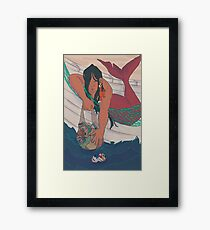 Eco Mermaid Framed Print