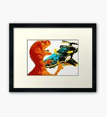 Velociraptor Attack! Framed Print
