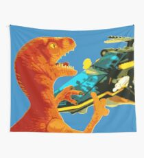 Velociraptor Attack! Wall Tapestry
