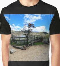 Fence Corner And Tree Graphic T-Shirt