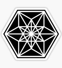 Cuboctahedron, Structur of Universe, Sacred Geometry Sticker