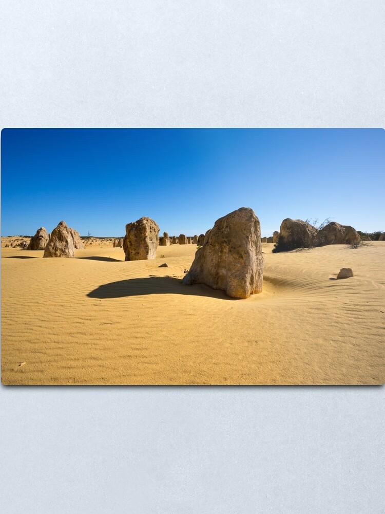 Alternate view of The Pinnacles, Western Australia Metal Print