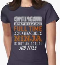 ACOMPUTER PROGRAMMER Womens Fitted T-Shirt