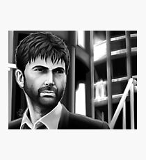 Alec Hardy Police Station Broadchurch David Tennant Black and White Photographic Print