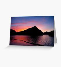 Palau Sunset Greeting Card