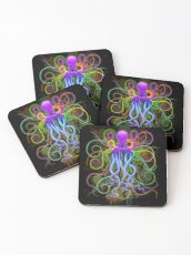 Octopus Psychedelic Luminescence Coasters