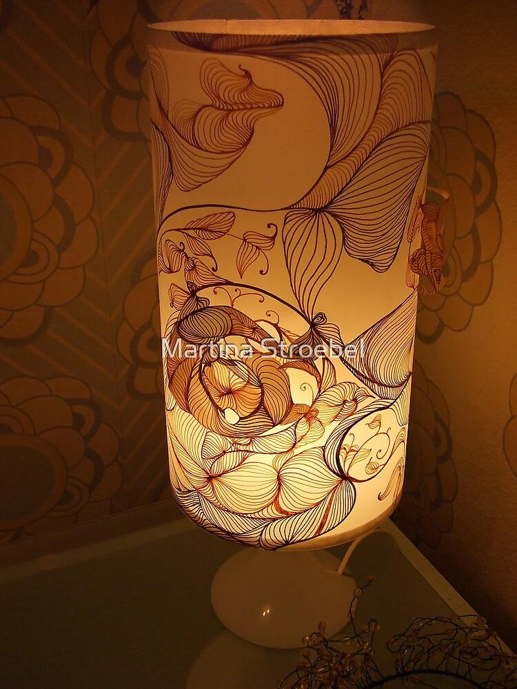 Handmade Paper Lamp +++ by Martina Stroebel