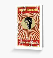 Pulp Faction - Jules Greeting Card