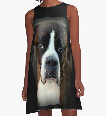Erinnerung an Arwen - Boxer Dogs Series A-Linien Kleid