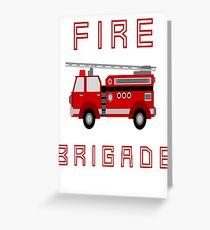 Fire Brigade Greeting Card