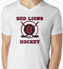 Voltron - On Thin Ice Red Lions Mens V-Neck T-Shirt