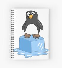 Penguin on ice Spiral Notebook