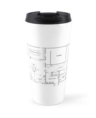 The office blueprint travel mugs by decffs redbubble the office blueprint by decffs malvernweather Choice Image