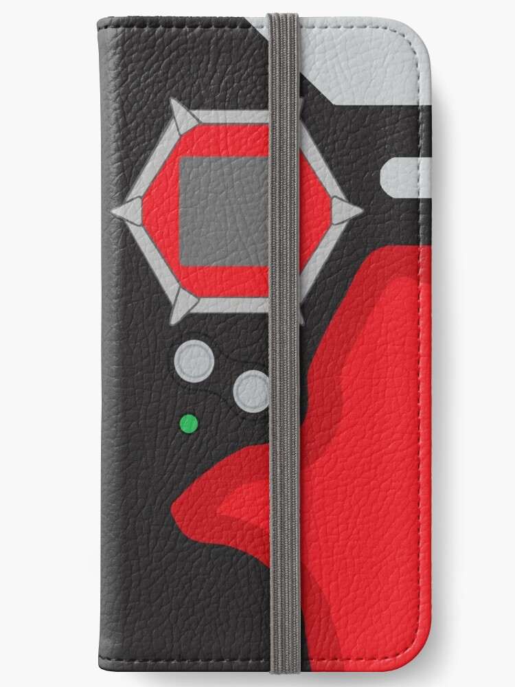 huge selection of f7328 df2df 'D-tector phone | Crimson and black version' iPhone Wallet by manuluce