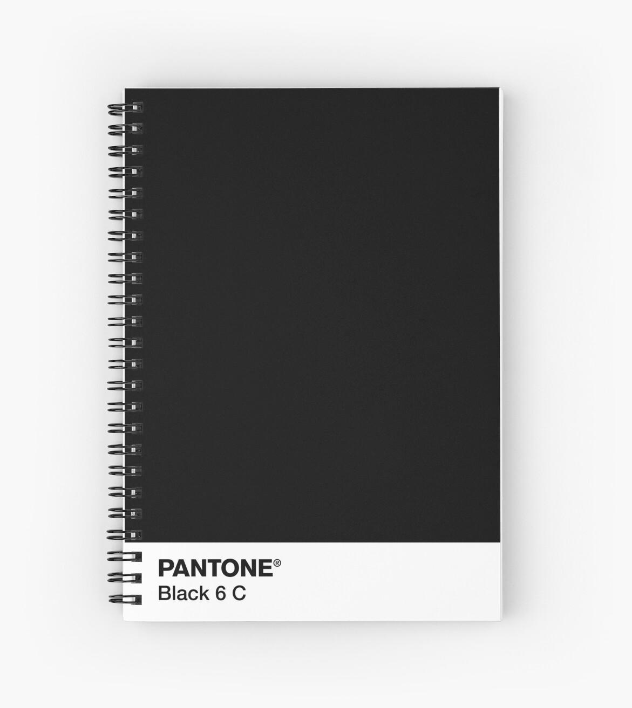 u0026quot pantone black 6 c u0026quot  spiral notebook by camboa