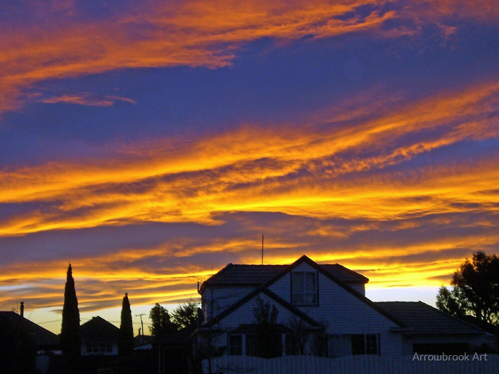 Sunset - Christchurch by John Brotheridge