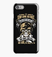 Awesome Soldier Quote Skull Artwork iPhone Case/Skin