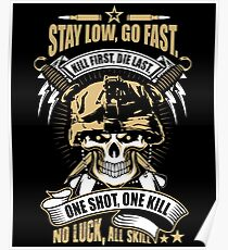 Awesome Soldier Quote Skull Artwork Poster