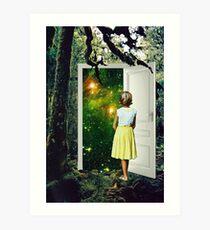 Portal in the Woods Art Print