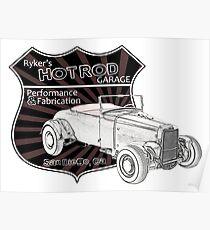 Rykers Hot Rod Garage Poster