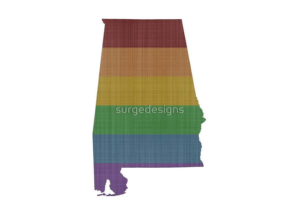 Alabama Rainbow Gay Pride by surgedesigns