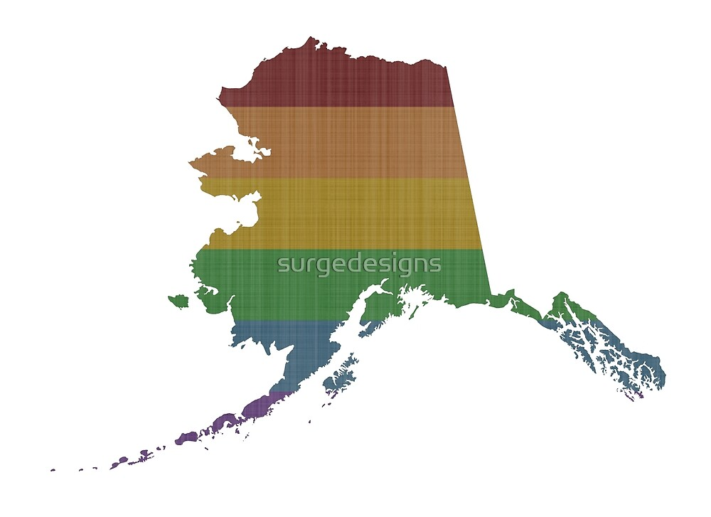 Alaska Rainbow Gay Pride by surgedesigns