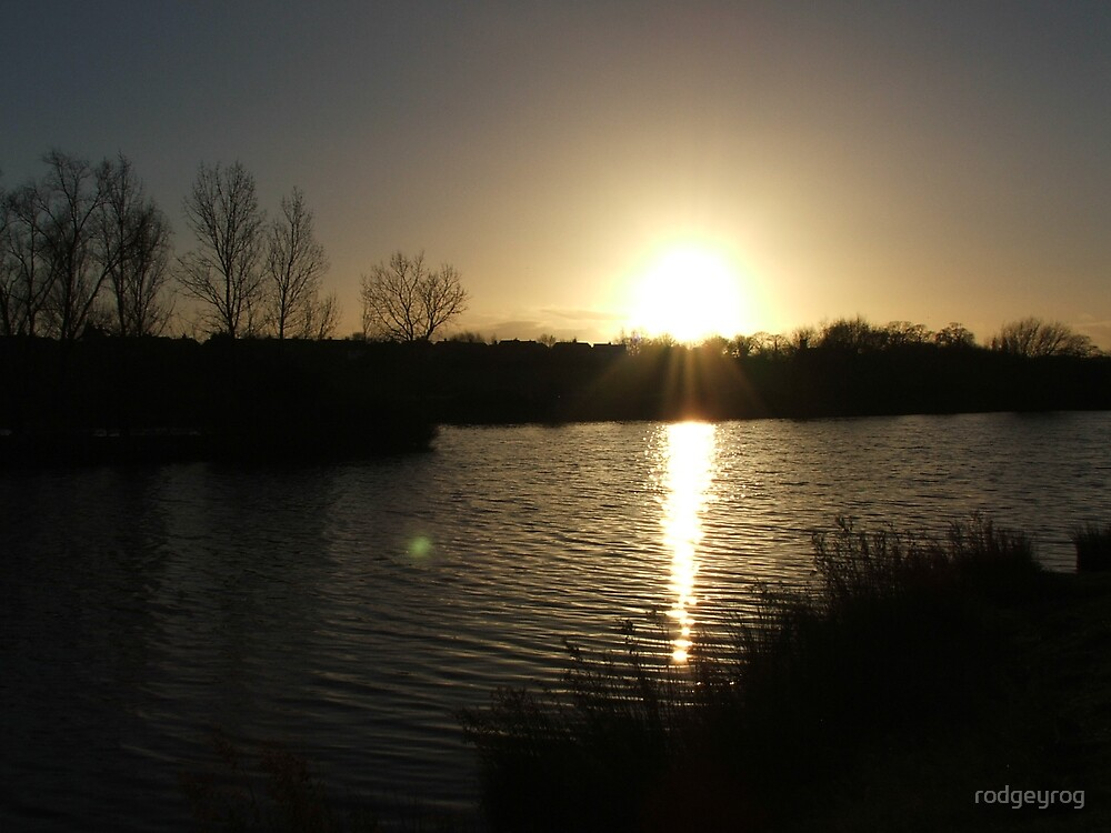 Sunset over Babbs Mill 2 by rodgeyrog