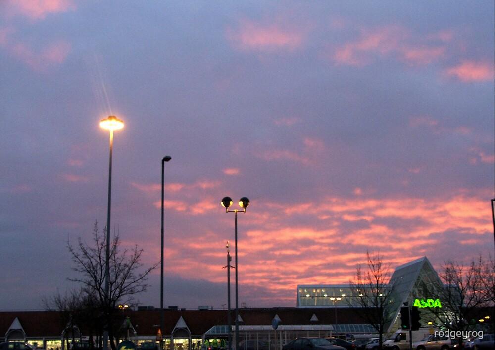 Supermarket Sunset by rodgeyrog