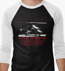 I Identify as an Attaack helicopter - Airwolf Edition Men's Baseball ¾ T-Shirt
