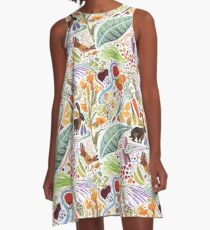 Vegetable Garden Party A-Line Dress