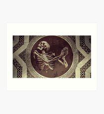 Hannibal: Dancing Skull + Skeleton Mosaic  Art Print